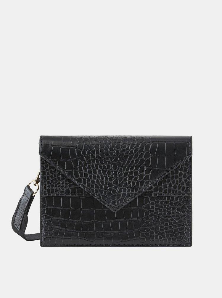 Černá kabelka s krokodýlím vzorem Pieces Symfoni