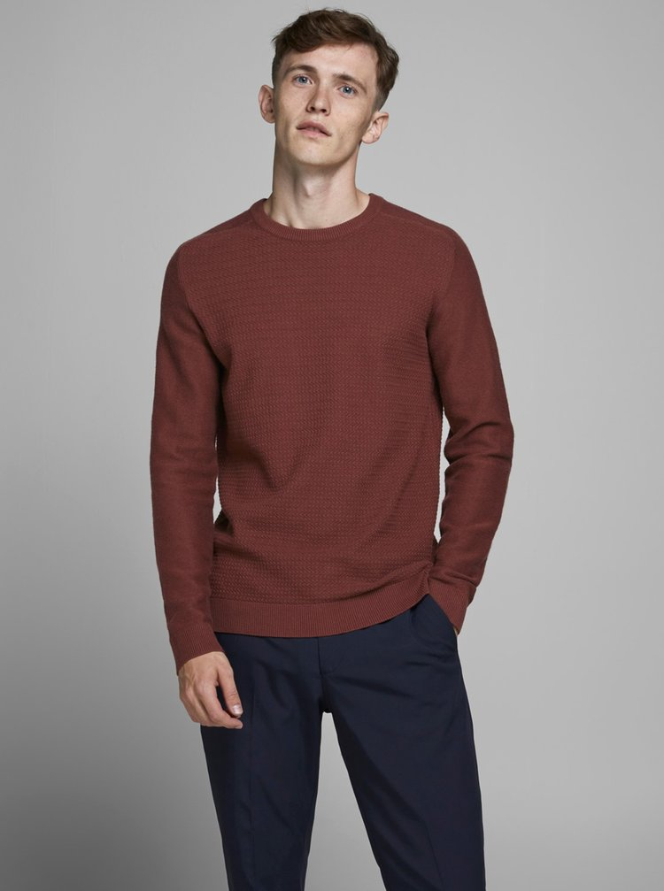 Hnedý sveter Jack & Jones Prblaadam
