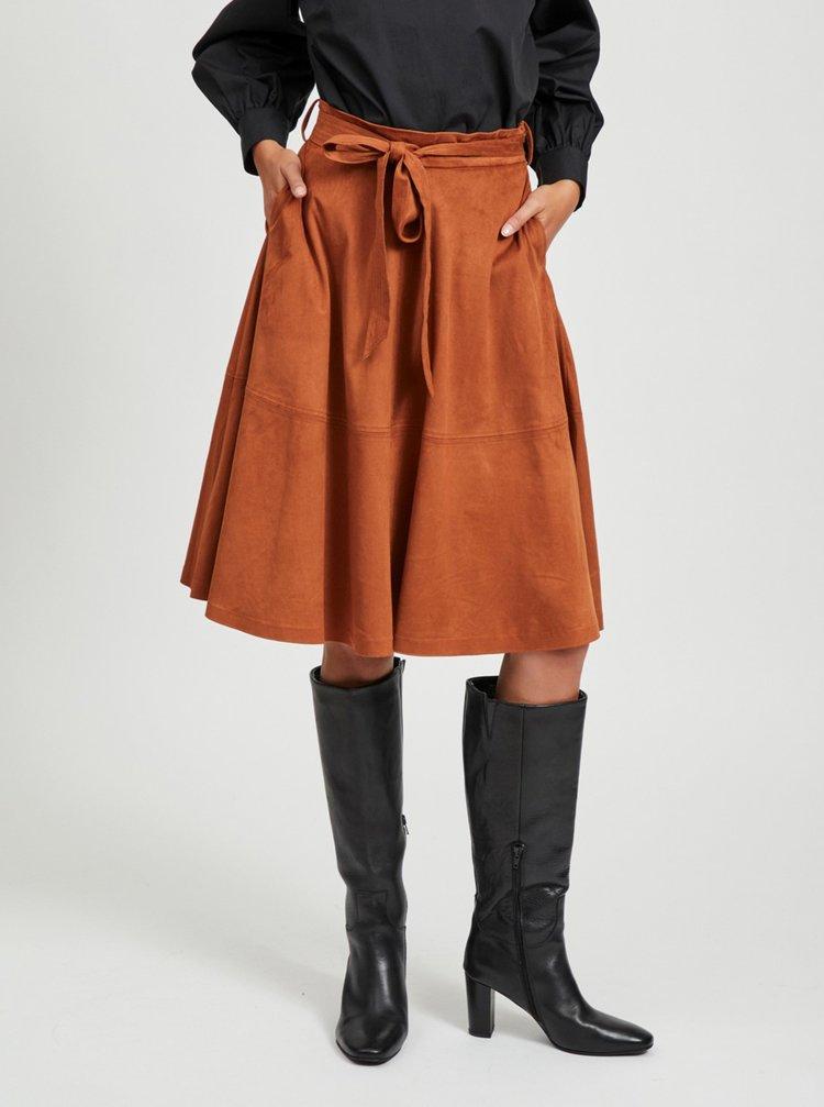 Hnedá sukňa VILA Darley