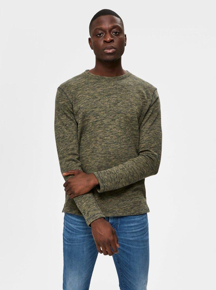 Zelený žíhaný sveter Selected Homme Jay