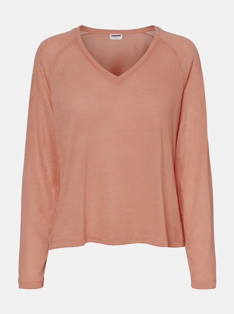 Ružový basic sveter Noisy May Molly