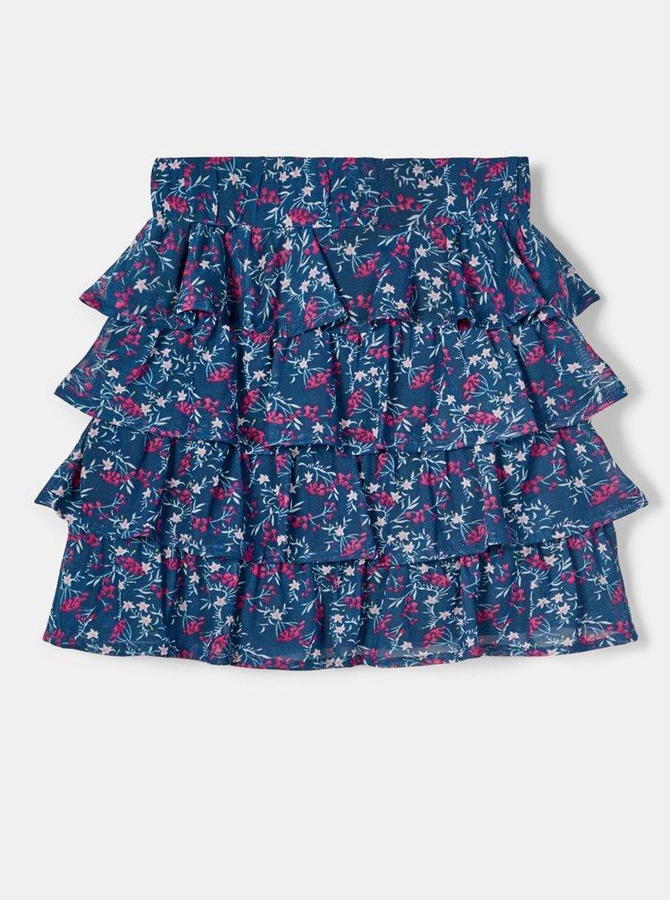 Modrá holčičí květovaná sukně name it Foda