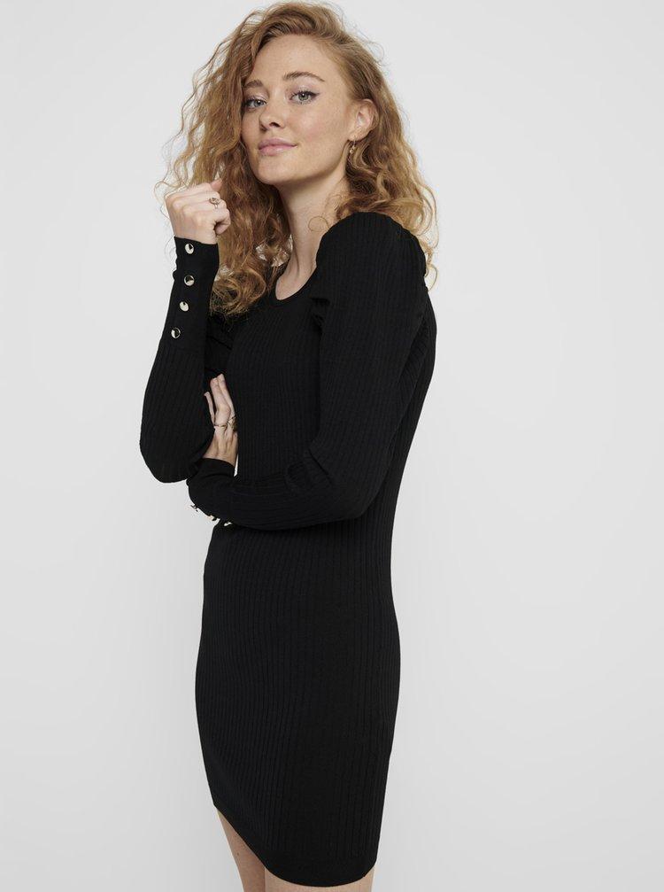 Čierne svetrové šaty ONLY Avy