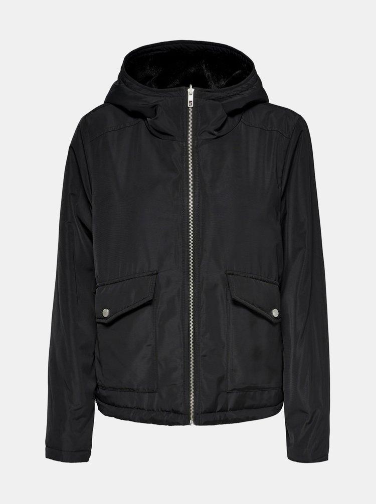 Čierna zimná bunda ONLY Dahlia
