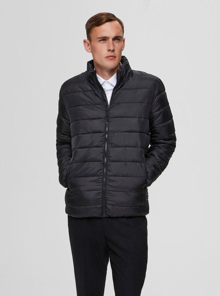 Černá prošívaná bunda Selected Homme Plastic