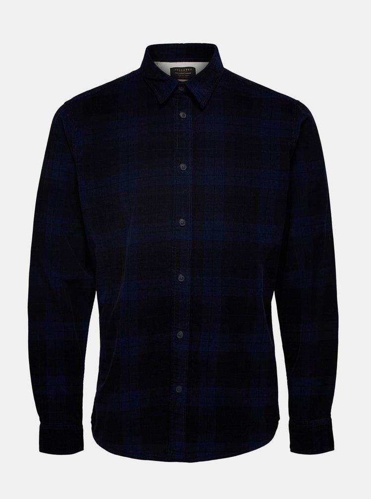 Tmavě modrá kostkovaná košile Selected Homme Adrian