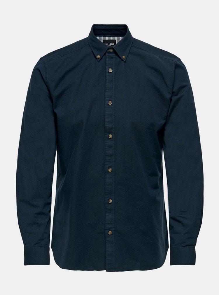 Tmavě modrá košile ONLY & SONS Blake