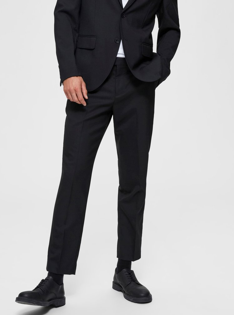 Čierne nohavice Selected Homme Ankle