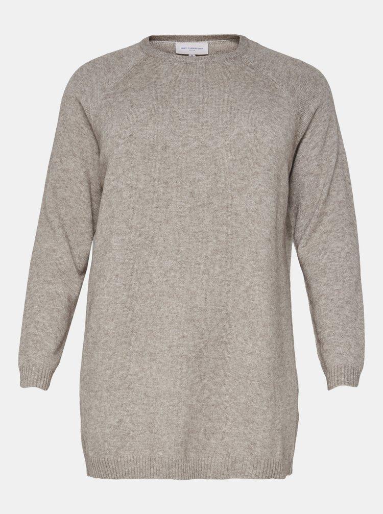 Béžový basic svetr ONLY CARMAKOMA Esly