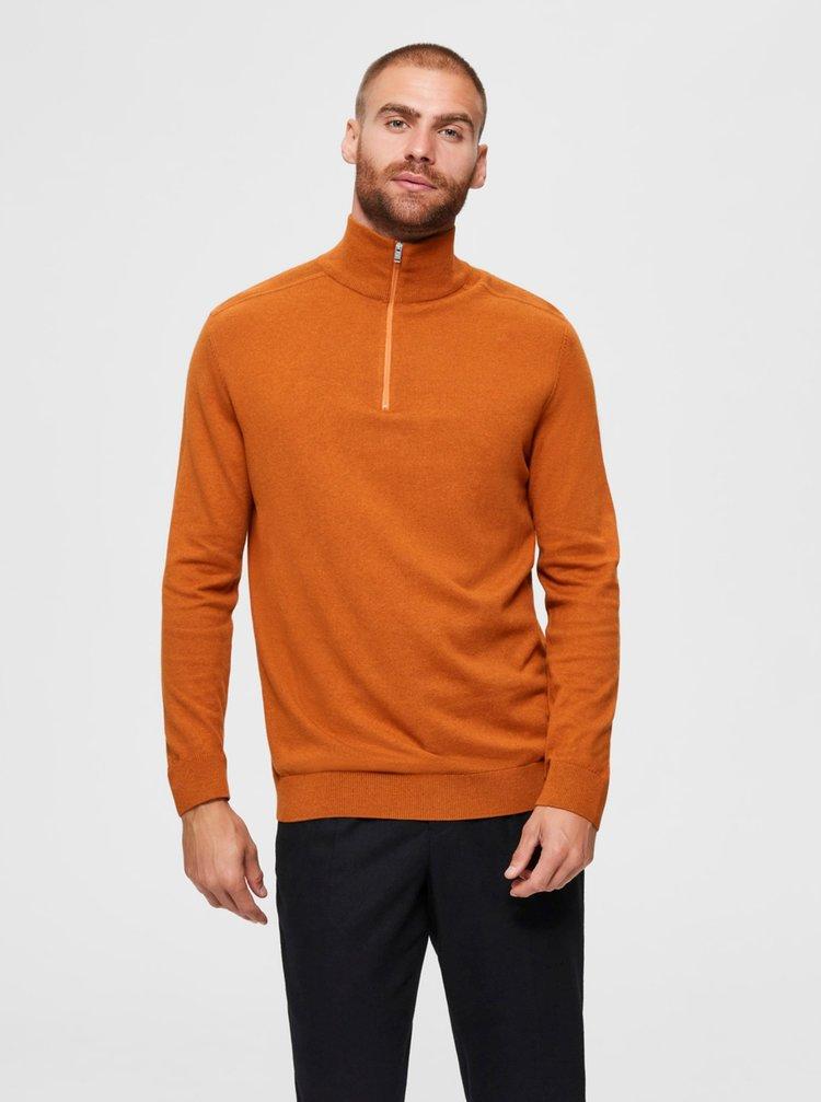 Oranžový svetr Selected Homme Berg