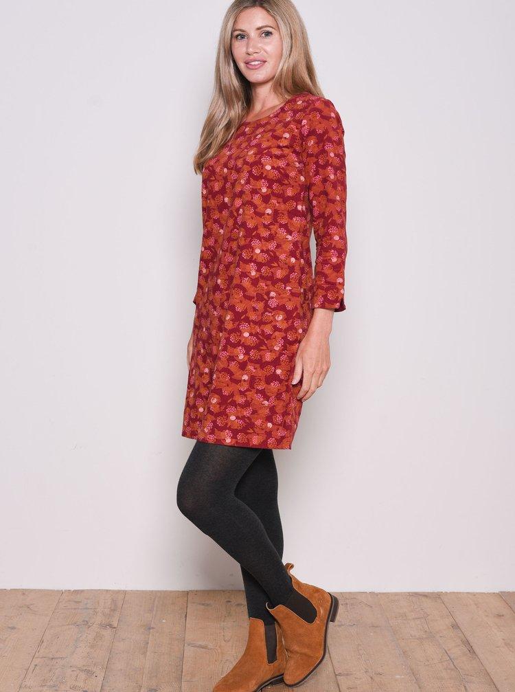 Červené vzorované šaty Brakeburn