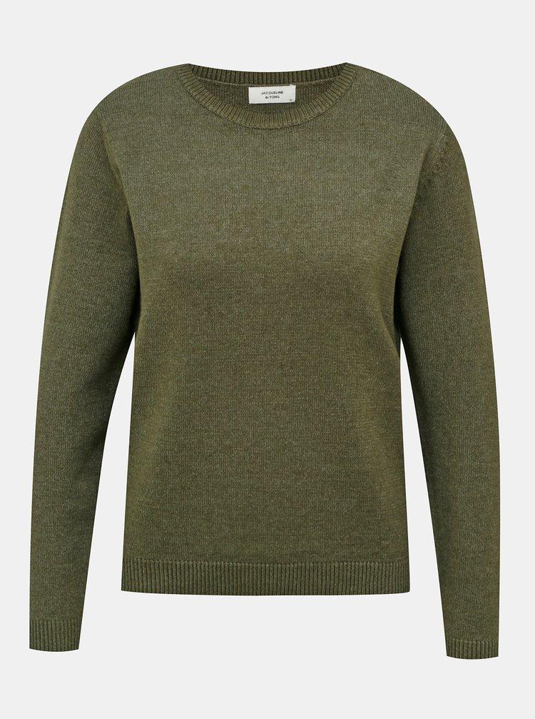 Tmavě zelený svetr Jacqueline de Yong Marco