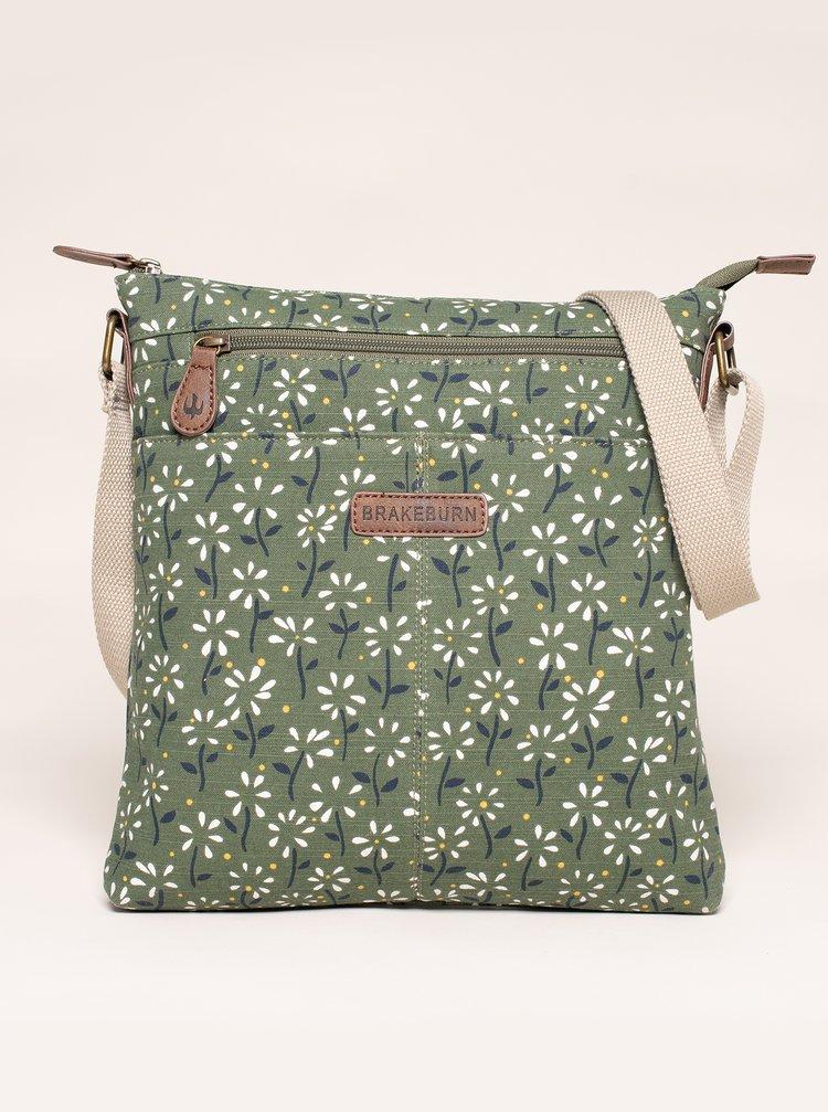 Zelená kvetovaná crossbody kabelka Brakeburn