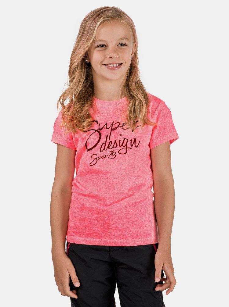 Ružový dievčenské tričko SAM 73