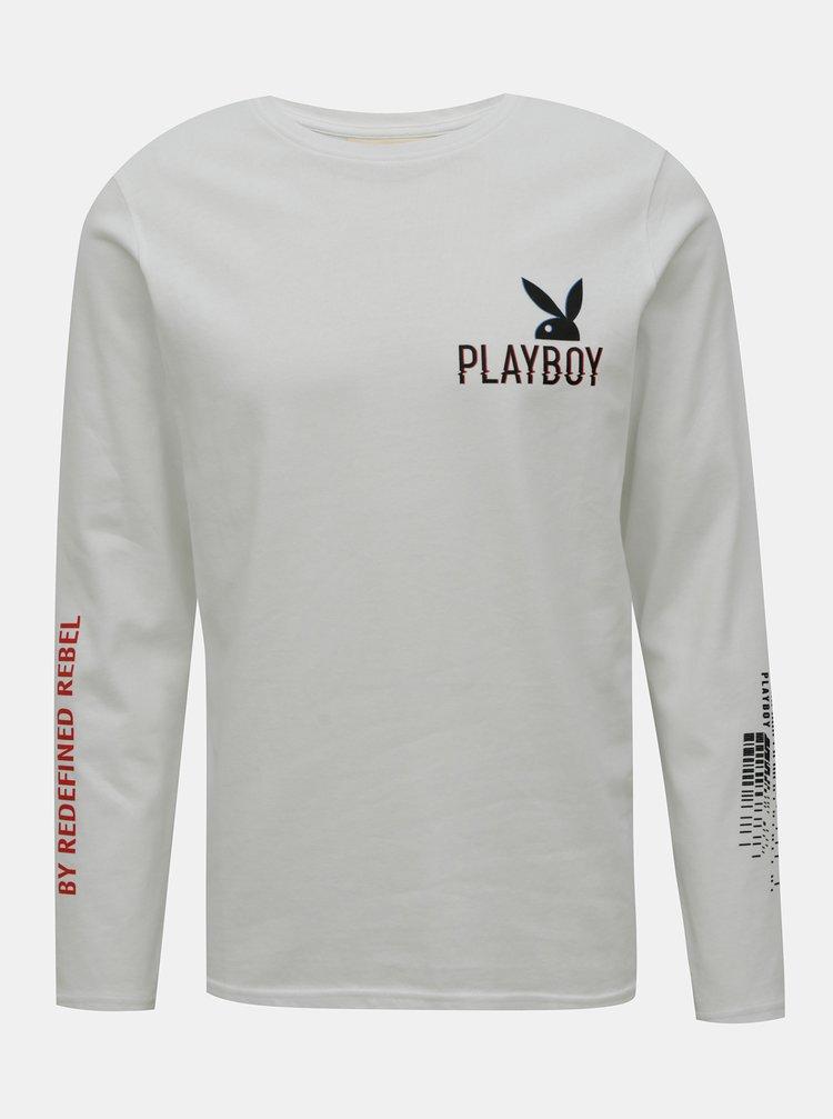 Bílé tričko s potiskem Redefined Rebel