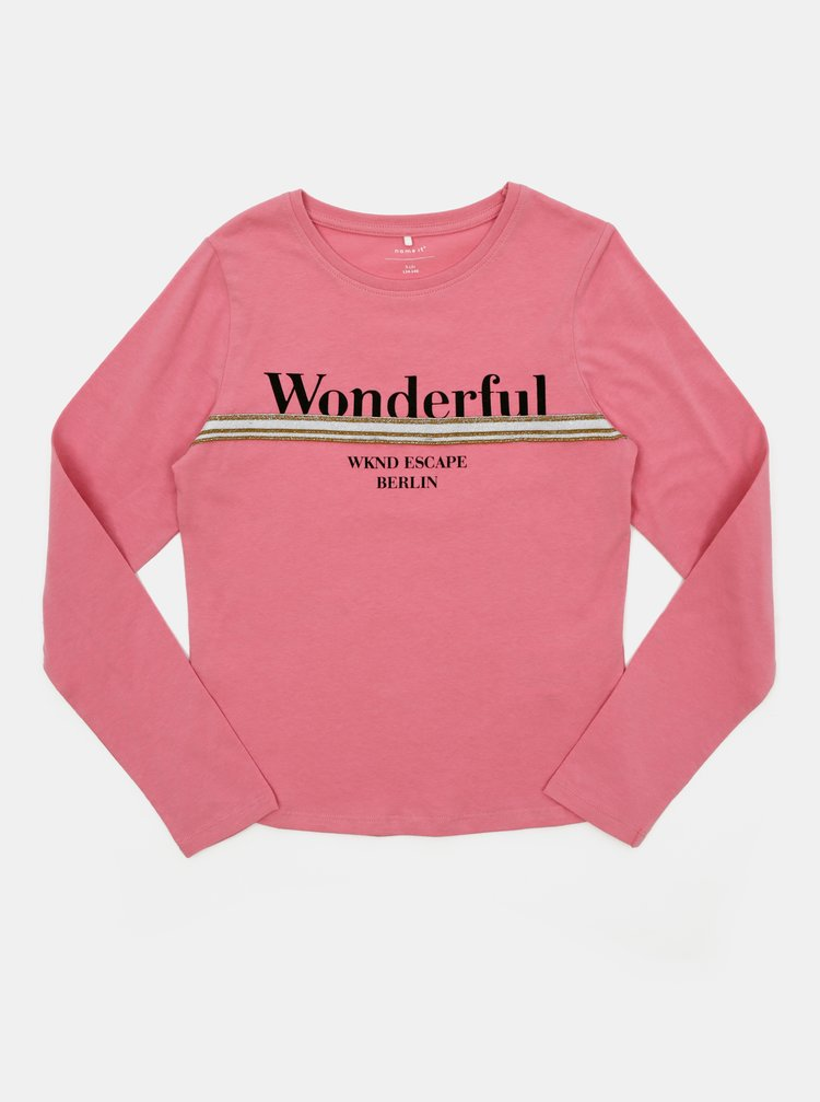Ružové dievčenské tričko name it Olefine
