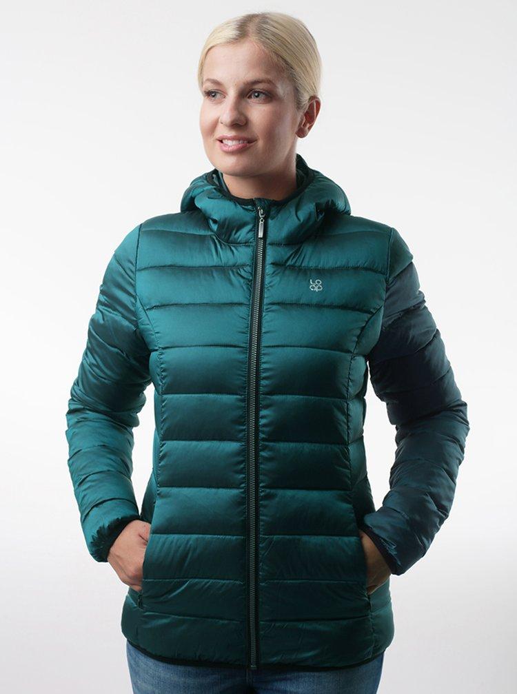 Zelená dámská prošívaná bunda LOAP