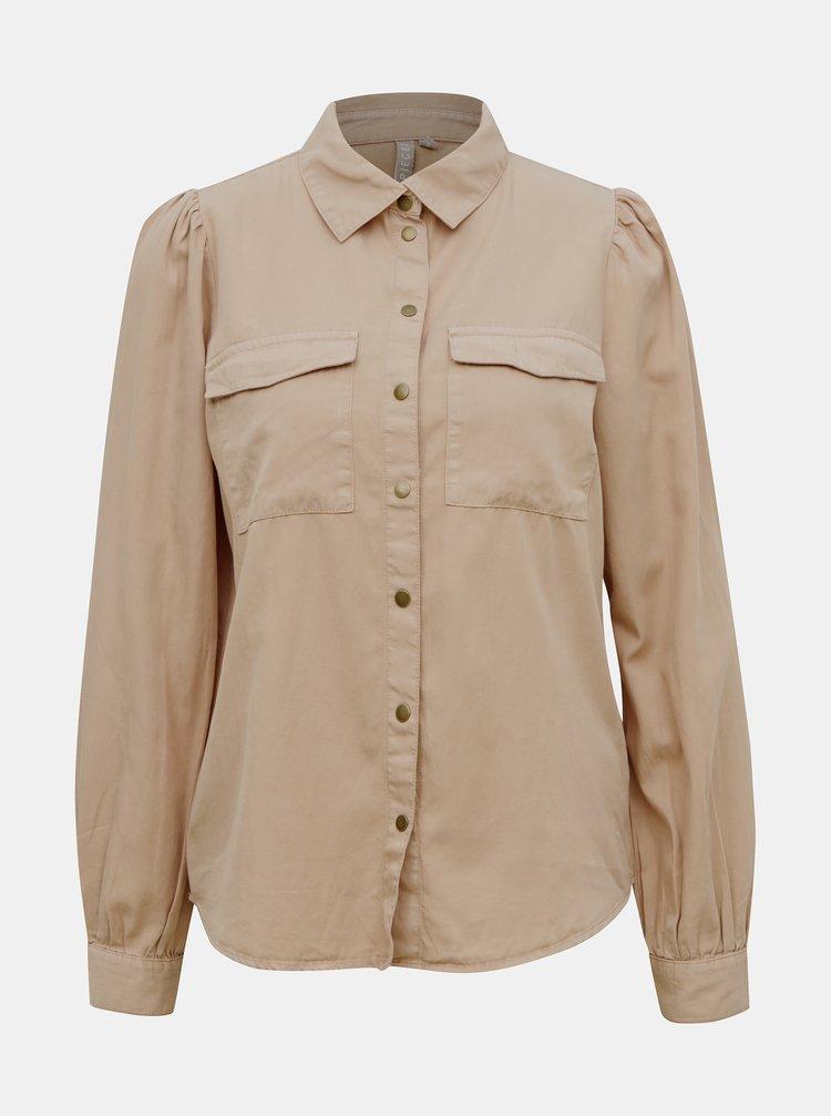 Béžová košile Pieces Bellis