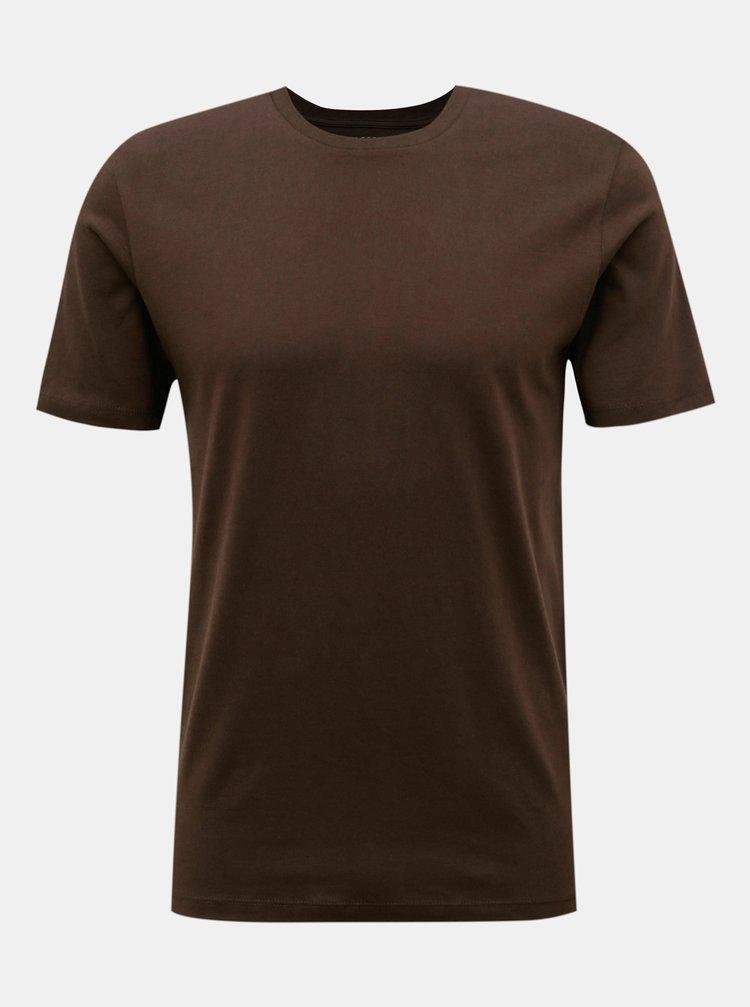 Tmavě hnědé basic tričko Selected Homme The Perfect