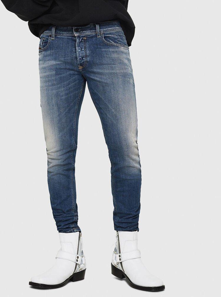 Modré pánské skinny fit džíny Diesel