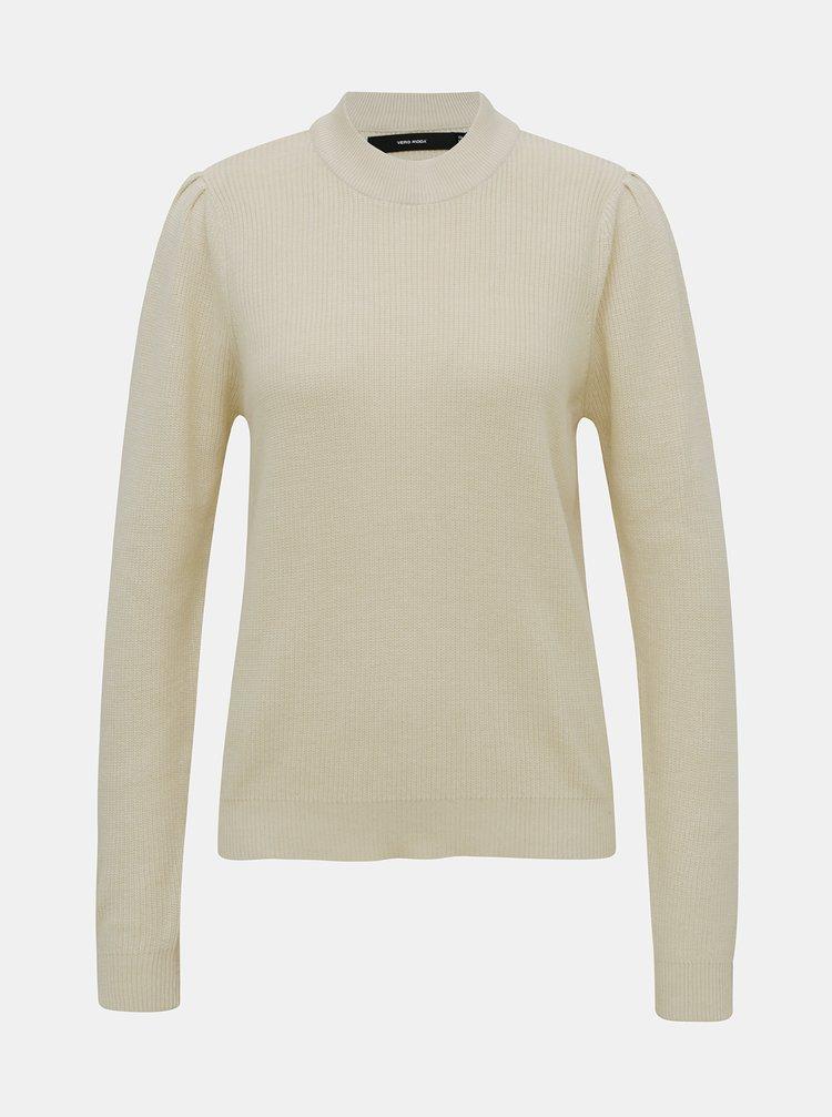 Krémový ľahký sveter so stojáčikom VERO MODA Galex