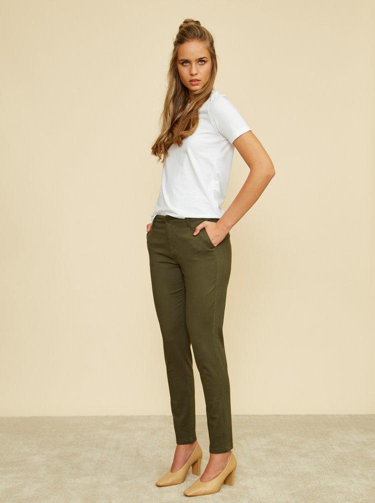 Kaki dámske slim fit nohavice ZOOT Baseline Heather