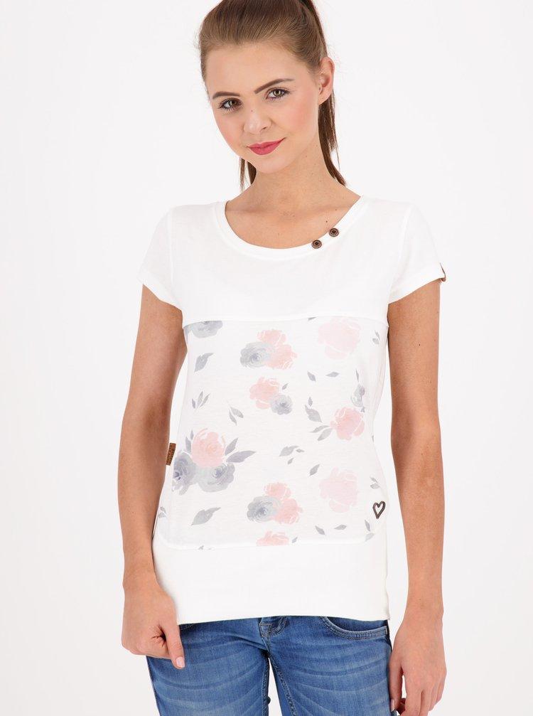 Bílé dámské vzorované tričko Alife and Kickin