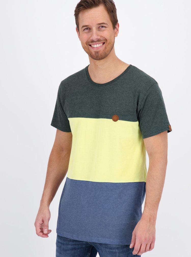 Modro-žluté pánské tričko Alife and Kickin