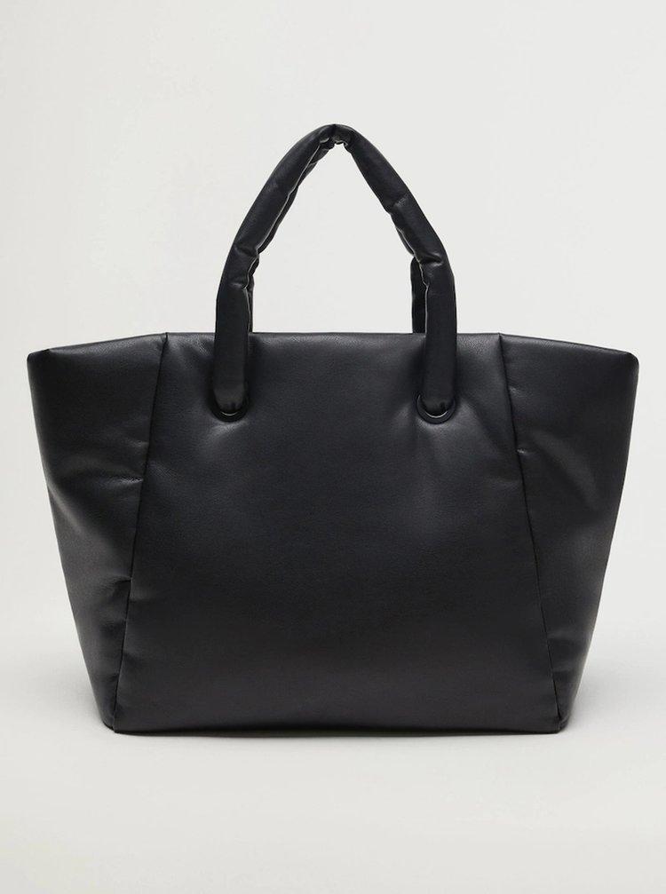 Černý shopper Mango Nordic