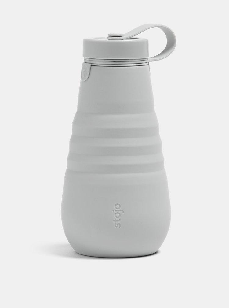 Šedá cestovní skládací láhev Stojo 592 ml