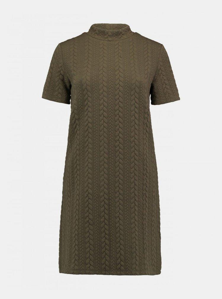 Khaki svetrové šaty Haily´s