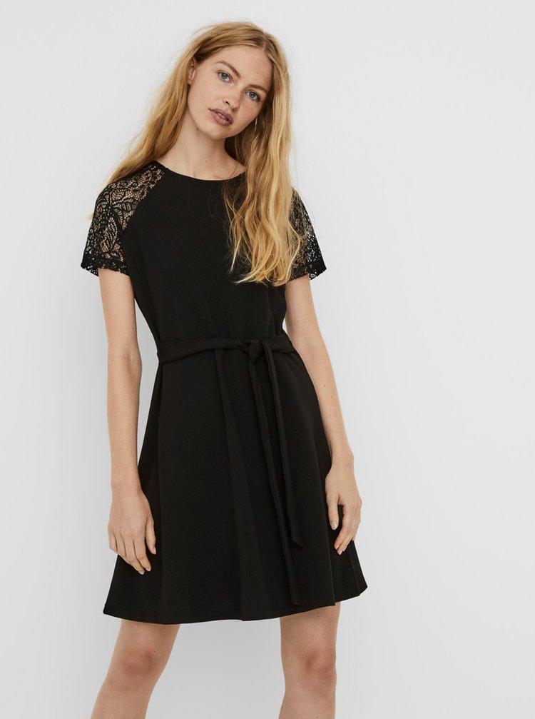 Čierne šaty VERO MODA Jasmine