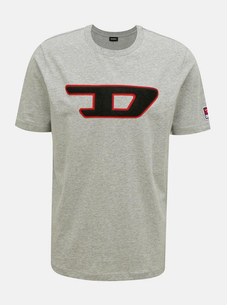 Šedé pánske tričko Diesel