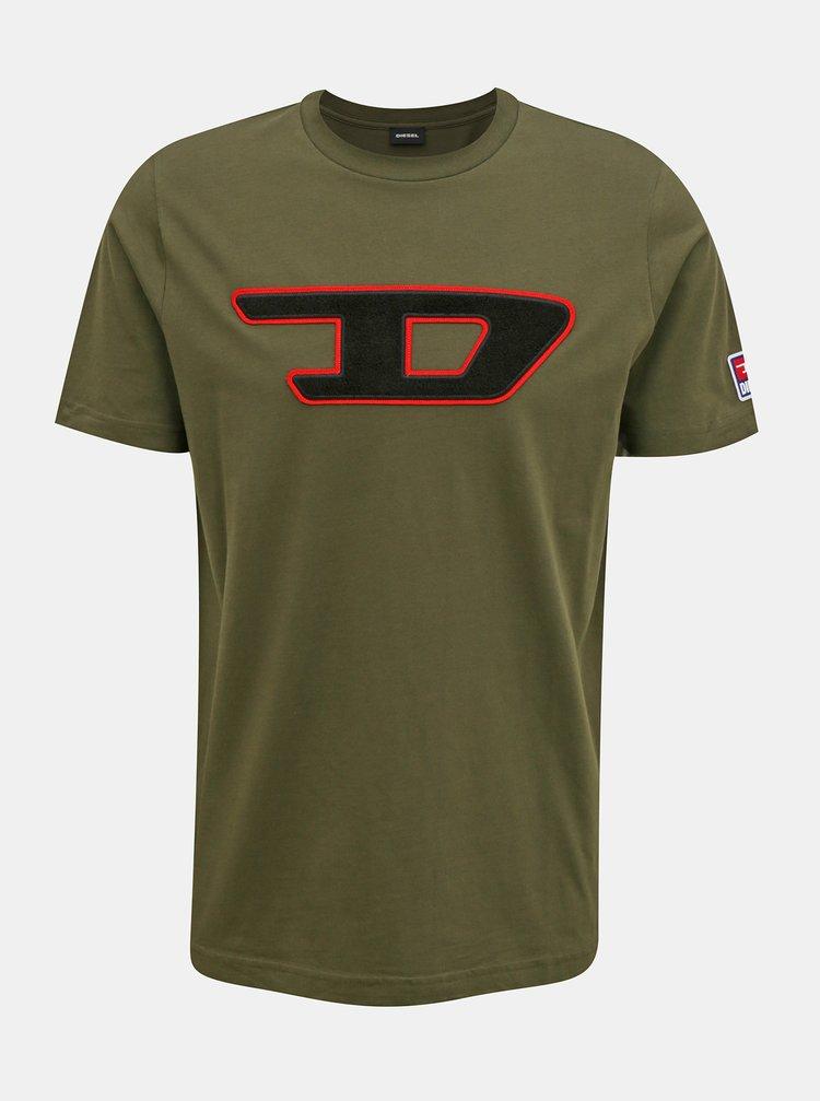 Kaki pánske tričko Diesel