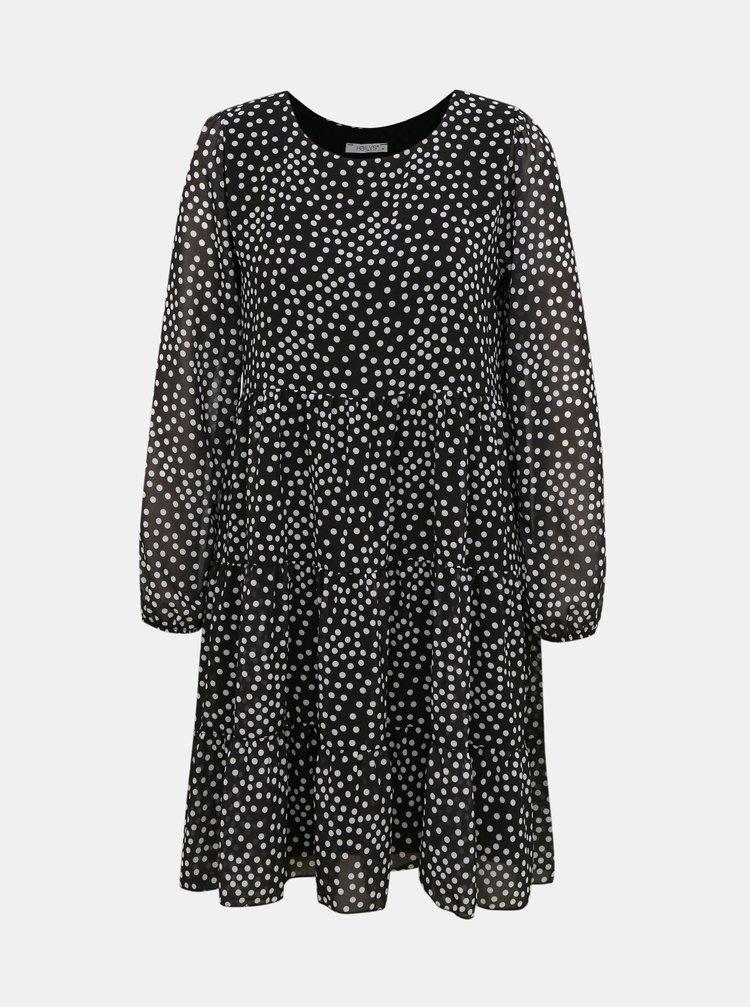 Čierne voľné bodkované šaty Haily´s