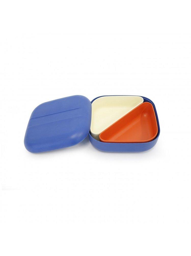 Ekobo Svačinový box s přihrádkami Royal Blue 1 ks