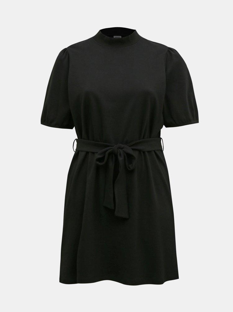 Čierne šaty so zaväzovaním VERO MODA CURVE Forest