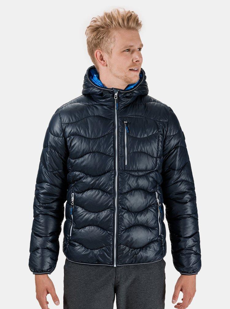 Tmavě modrá pánská zimní prošívaná bunda SAM 73