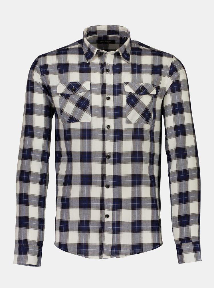 Šedo-modrá kockovaná košeľa Shine Original