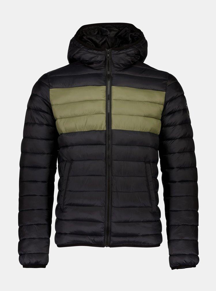 Černá zimní prošívaná bunda Shine Original