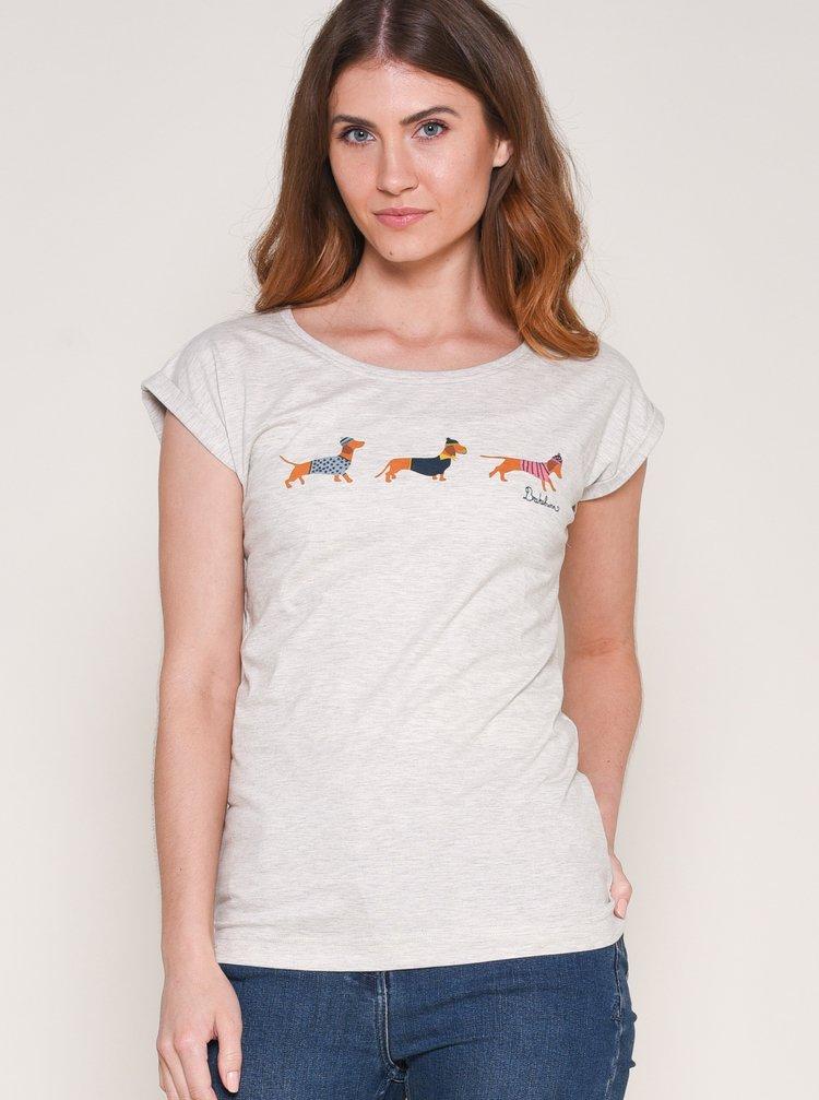 Krémové tričko s potlačou Brakeburn