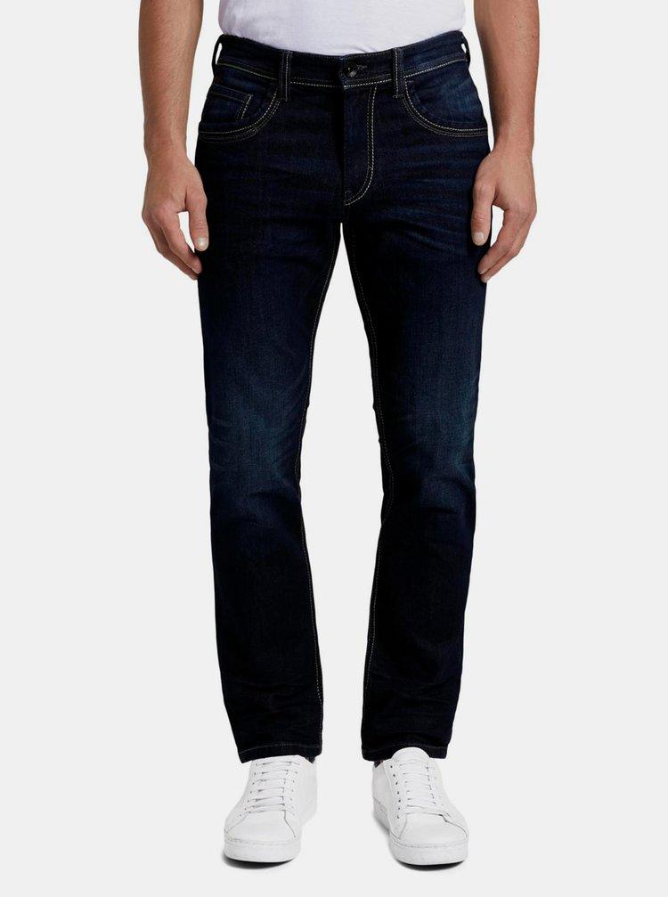 Tmavě modré pánské straight fit džíny Tom Tailor