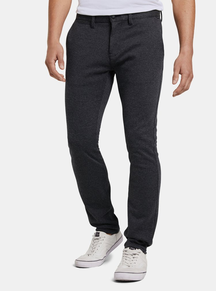 Tmavě šedé pánské chino kalhoty Tom Tailor