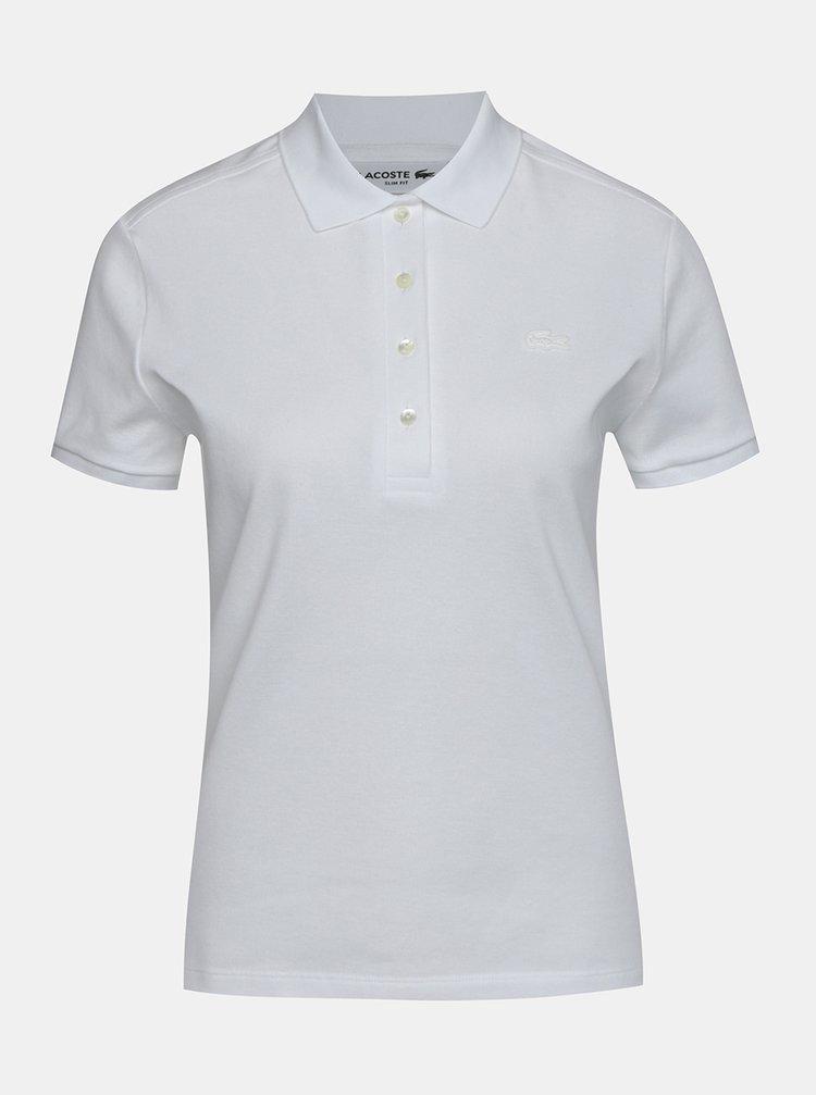 Bílé dámské basic polo tričko Lacoste