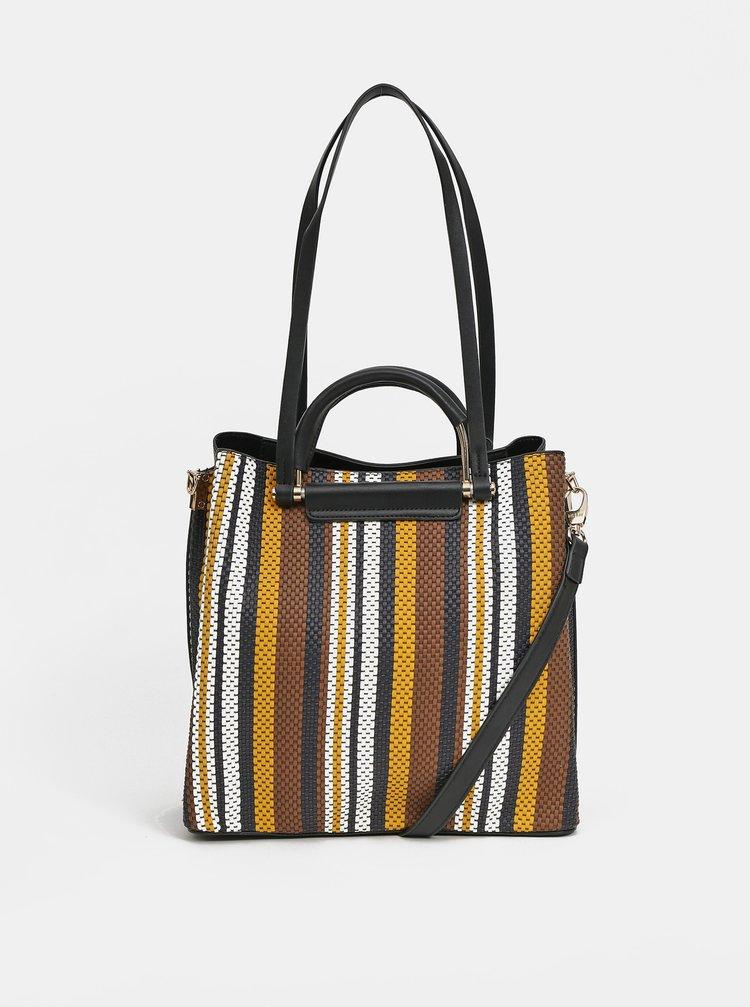Hnědo-černá pruhovaná kabelka Bessie London