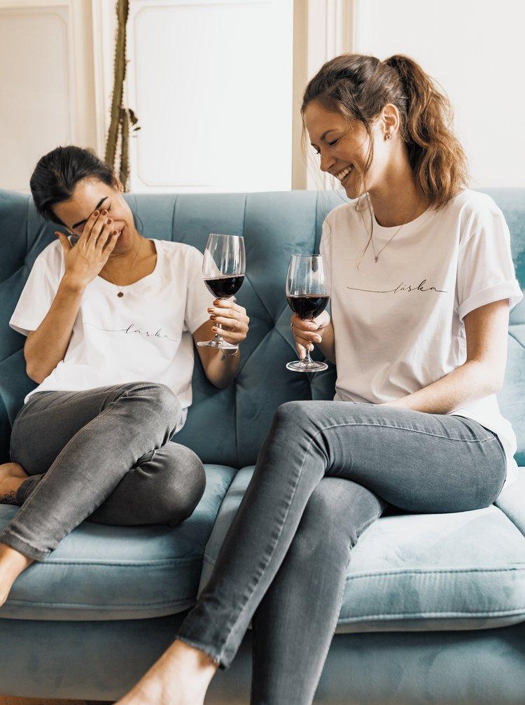 Bílé dámské tričko ZOOT Original Láska