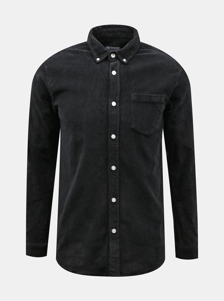 Černá manšestrová košile Redefined Rebel