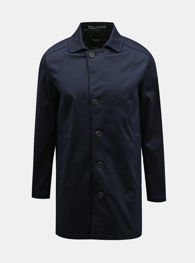 Tmavomodrý pánsky kabát Selected Homme New Timeless