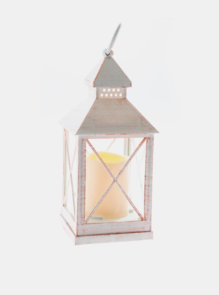 Bílá svítící lucerna Dakls