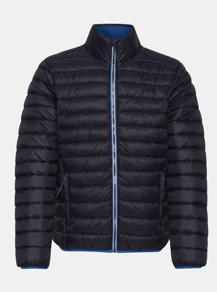 Tmavě modrá prošívaná zimní bunda Blend